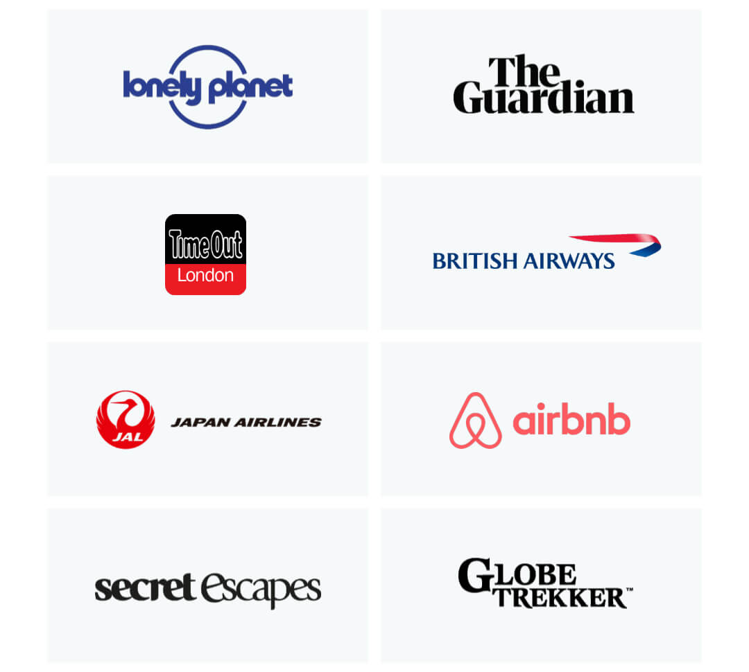 Some of the companies we've been featured by.